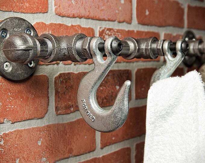 Industrial Coat Rack - Wall Hook - Robe Hook - Home Decor - Bath Decor - Industrial Decor - Rustic Home Decor - Hat Hook - FREE SHIPPING