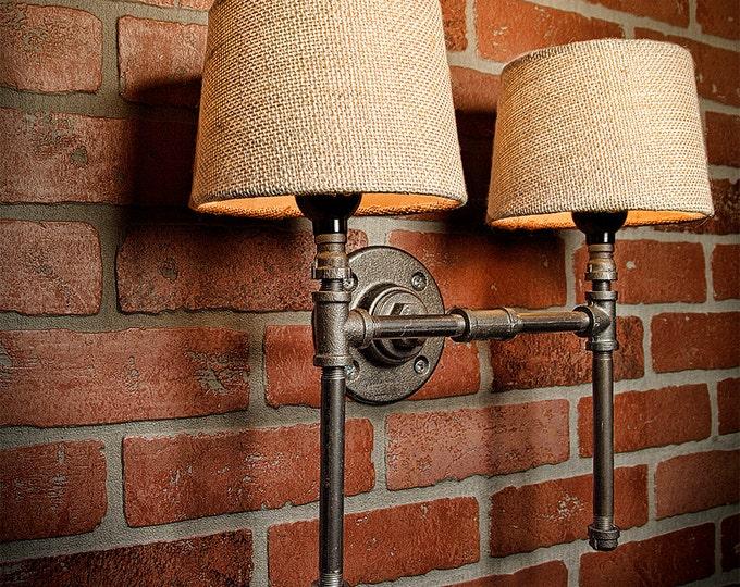 Farmhouse Lighting - Lighting - Rustic Light - Steampunk Lighting - Bar Light - Industrial Sconce - Sconce - Wall Light - FREE SHIPPING