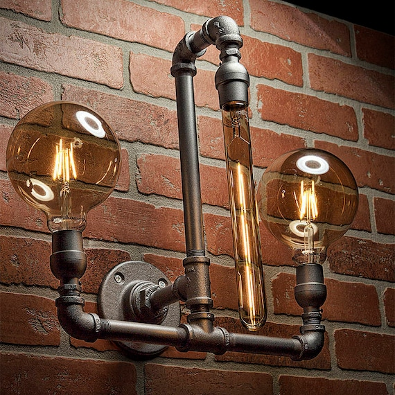 Pipe Light Lighting Pipe Sconce Light Steampunk Lighting