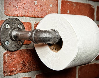 Farmhouse Pipe Toilet Roll Holder - FREE DOMESTIC SHIPPING
