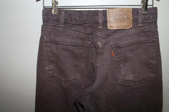 34189ef1 ... 80s 90s Dark Brown Jeans Denim Levis Levi's 550 Orange Tag Relaxed Fit  Straight Leg 30x34