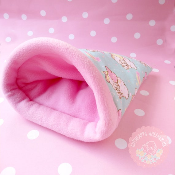 Guinea Pig Unicorn Snuggle Sack Guinea Pig Fleece Bed Cage Accessories
