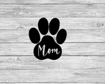 Pet lover dog mom Decal, pet sticker, paw print decal, yeti, car decal, laptop decal, wine glass decal, cell phone decal, window sticker