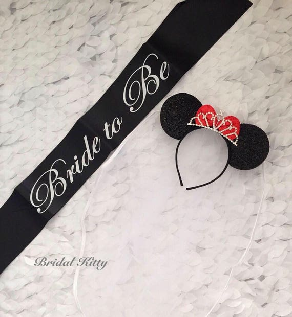 Disney Bride Minnie Mouse Ears Tiara Headband With Veil Disney  b6f384bcd9d
