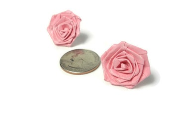 Rose earring - Qulling rose earrings - Paper qulling jewelry - Colorful flower earrings - Quilled earrings - Paper earring - Quilled jewelry