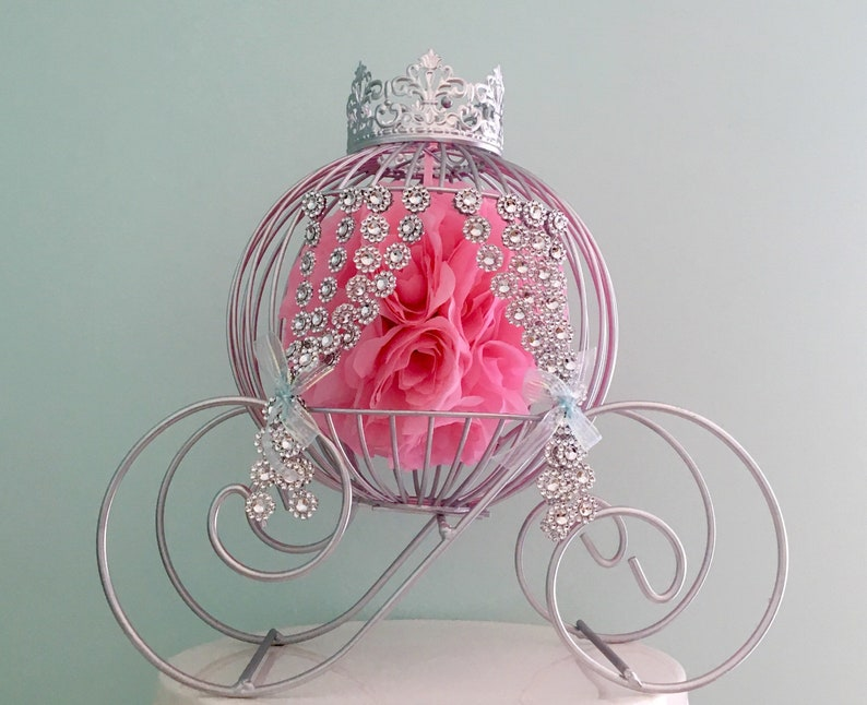 SALE*** Big Size 16 height Beautiful Cinderella Carriage Centerpiece with crpwn