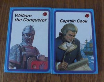 Ladybird Captain Cook And William The Conqueror Hardback Books