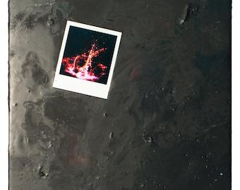 Encaustic Painting - Encaustic Art - Assemblage Art - Mixed Media - Collage - Polaroid
