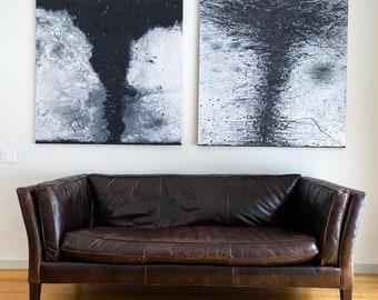 Tornado Drawing - Tornado Painting - Tornado Art - Oil Painting - Encaustic Painting - Tornado #14