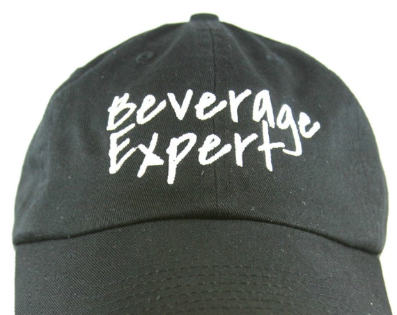 Beverage Expert - Polo Style Ball Cap (Black with White Stitching)