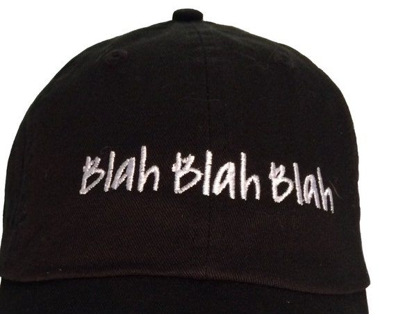 Blah Blah Blah (Polo Style Ball Black with White Stitching)