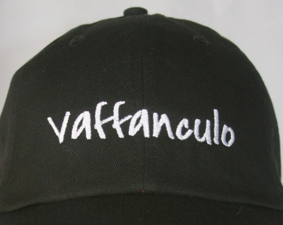 Vaffanculo (Polo Style Ball Black with White Stitching)