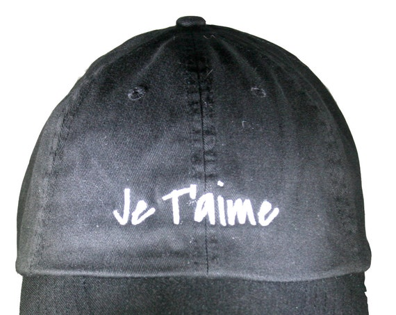 Je T'aime (Polo Style Ball Black with White Stitching)
