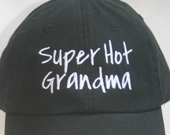 Super Hot Grandma (Polo Style Ball Black with White Stitching)