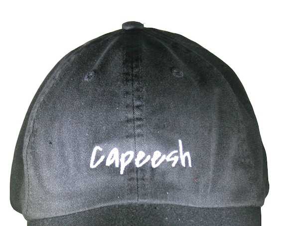 Capeesh (Polo Style Ball Black with White Stitching)
