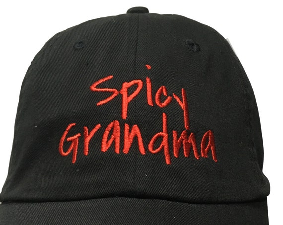 Spicy Grandma (Polo Style Ball Black with Red Stitching)