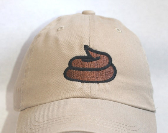 Emoji Poo Head - Polo Style Ball Cap (available in different colors)