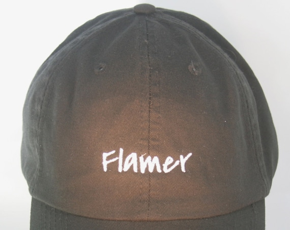 Flamer (Polo Style Ball Black with White Stitching)