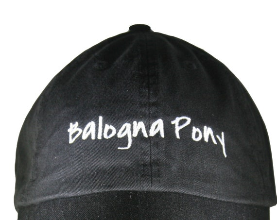 Bologna Pony (Polo Style Ball Black with White Stitching)