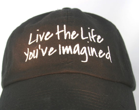 Live the Life You've Imagined (Polo Style Ball Black with White Stitching)