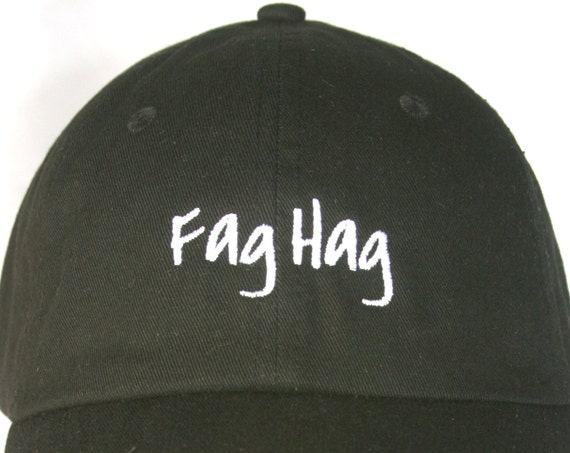 Fag Hag (Polo Style Ball Black with White Stitching)
