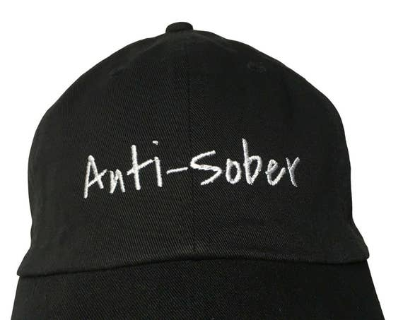 Anti-Sober (Polo Style Ball Black with White Stitching)