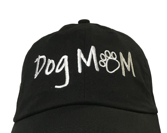 Dog Mom with Paws (Polo Style Ball Cap in various colors)