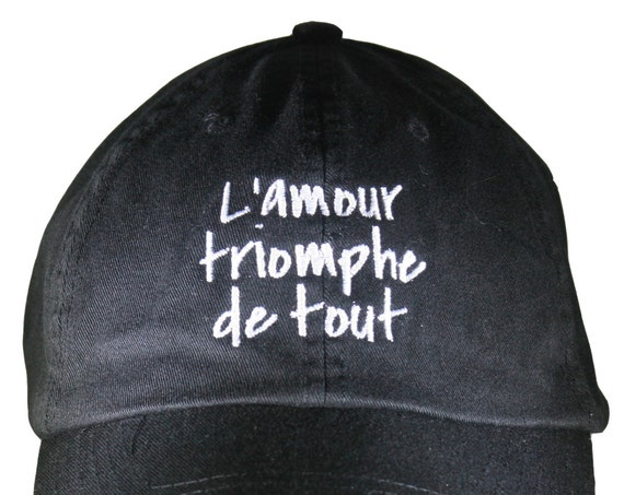 L'Amour Triomphe de tout (Polo Style Ball Black with White Stitching)