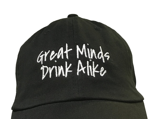 Great Minds Drink Alike (Polo Style Ball Black with White Stitching)