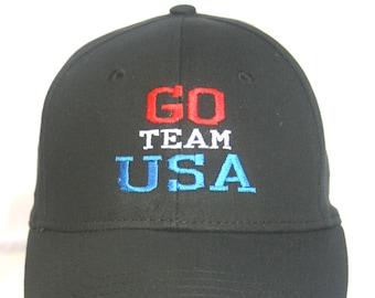 00764e27f22a2 Go Team USA Polo Style Ball Cap