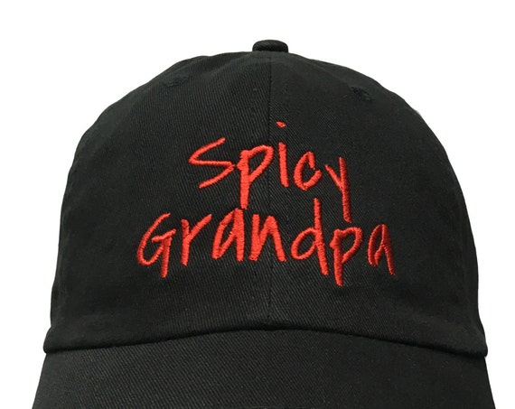 Spicy Grandpa (Polo Style Ball Black with Red Stitching)