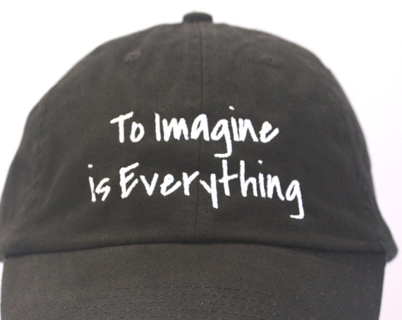 To Imagine is Everything - Polo Style Ball Cap (Black with White Stitching)