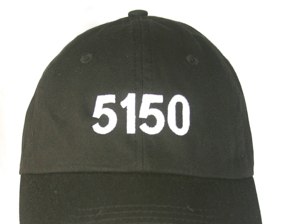 5150 - Crazy - Polo Style Dad Cap (Various Colors with White Stitching)