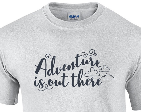 Adventure is out there - Mens T-Shirt (Ash Gray or White)