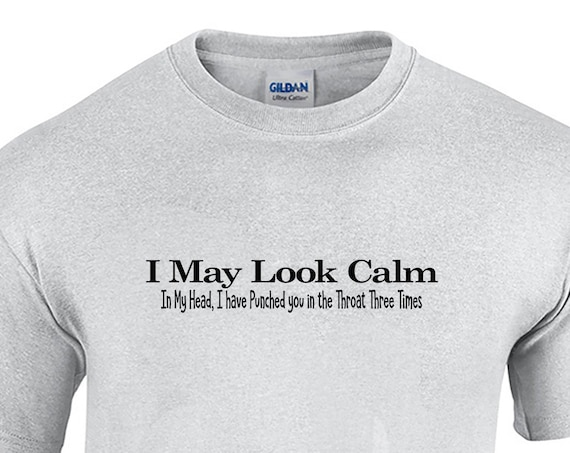 I May Look Calm... (T-Shirt - Available in Ash Gray or White)