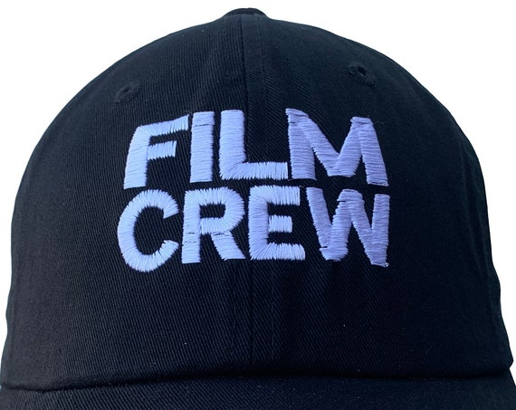 FILM CREW - Polo Style Ball Cap (Various colors with White Stitching)