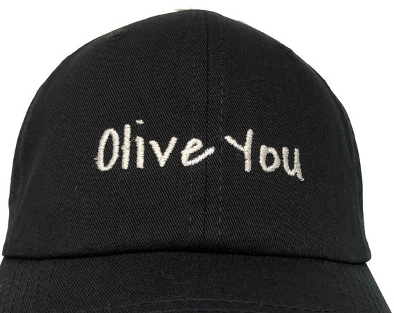 Olive You - Polo Style Ball Cap (Various Colors with White Stitching)