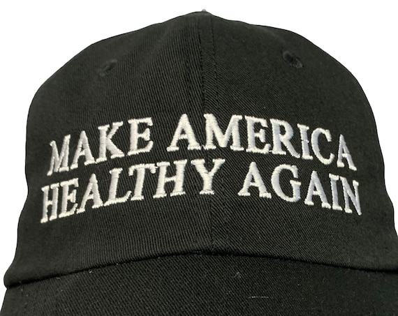 Make America Healthy Again -  Ball Cap (Various Colors with White Stitching)