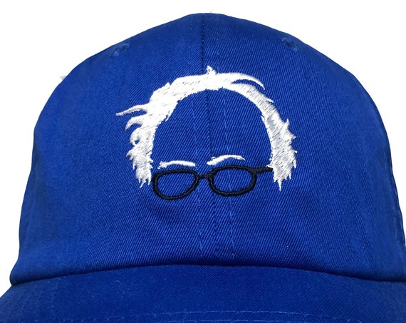 Bernie Sanders Outline -  Ball Cap (Various Colors with White Stitching)