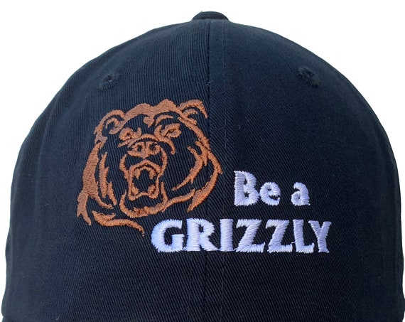 Be a Grizzly (Polo Style Ball Black with White/Brown Stitching)