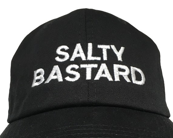 Salty Bastard (Polo Style Ball Black with White Stitching)