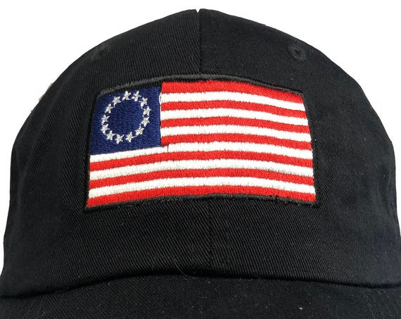 Betsy Ross Historic USA Flag -  Ball Cap (Available in Various Colors)