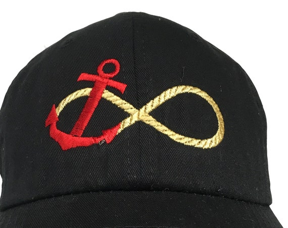 Anchor Infinity Rope (Polo Style Ball Black with White Stitching)