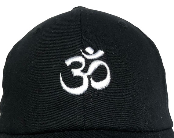 Om / Aum Symbol (Polo Style Adustable Ball Various Colors with White Stitching)