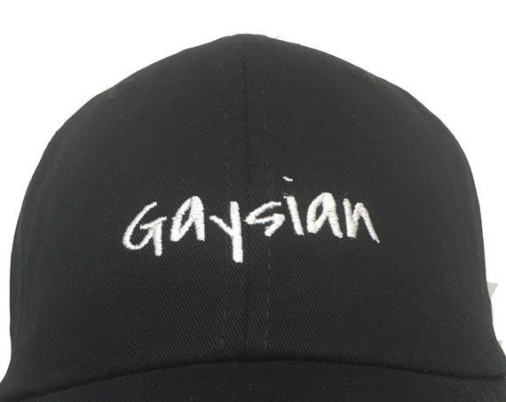 Gaysian (Polo Style Ball Black with White Stitching)