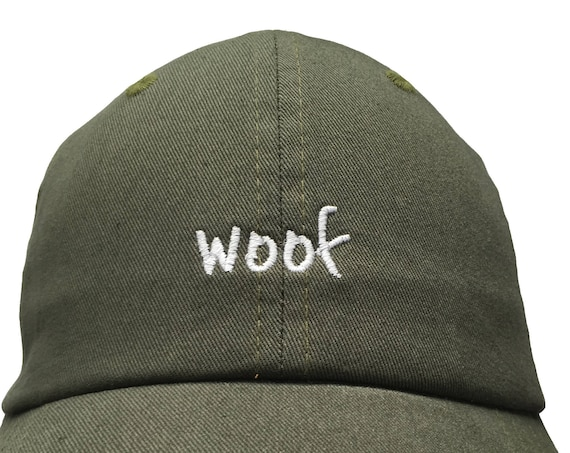 Woof (Polo Style Dad Cap Different colors embroidered with white stitching)