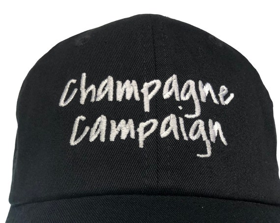 Champagne Campaign - Polo Style Ball Cap - Various colors with White Stitching