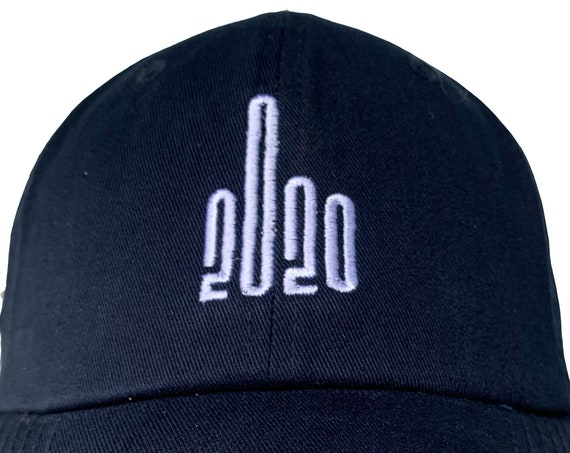 Middle Finger to 2020 -  Ball Cap (Various Colors with White Stitching)
