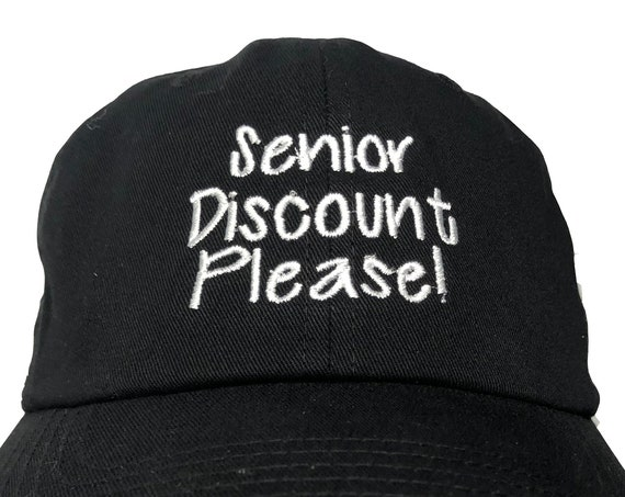 Senior Discount Please (Polo Style Ball Various Colors with White Stitching)