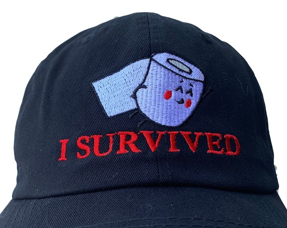 I Survived (Toilet Paper Crisis) - Polo Style Ball Cap (Various Colors with White Stitching)